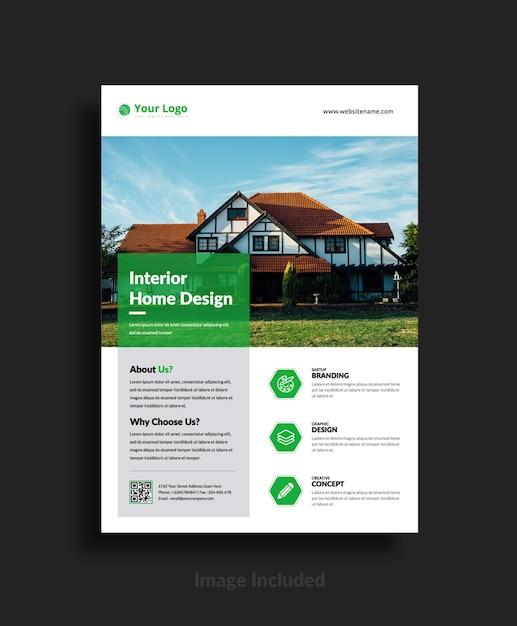 Modèles de flyers immobiliers Vecteur Premium