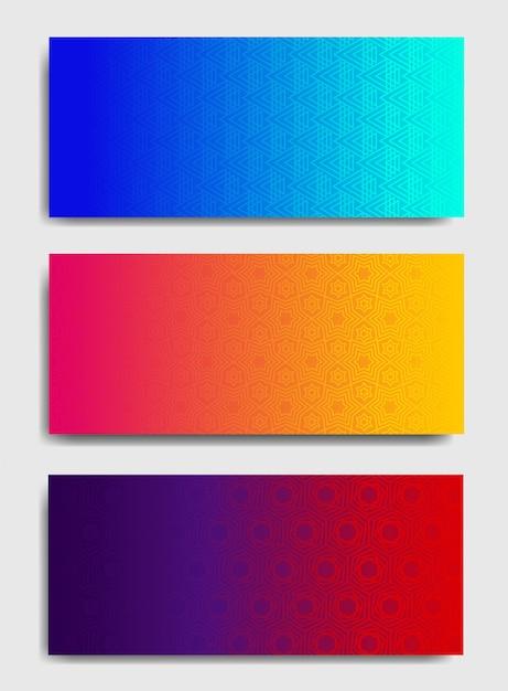 Modèles de fond horizontal coloré. Vecteur Premium