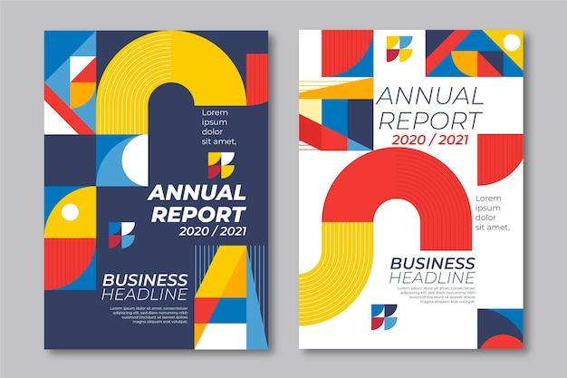 Modèles De Formes Géométriques De Rapport Annuel Vecteur gratuit