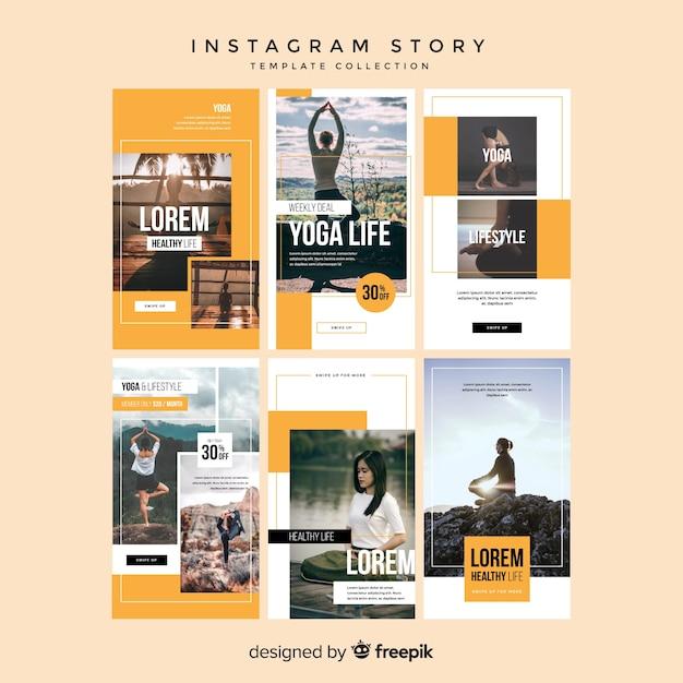 Modèles d'histoires instagram Vecteur gratuit
