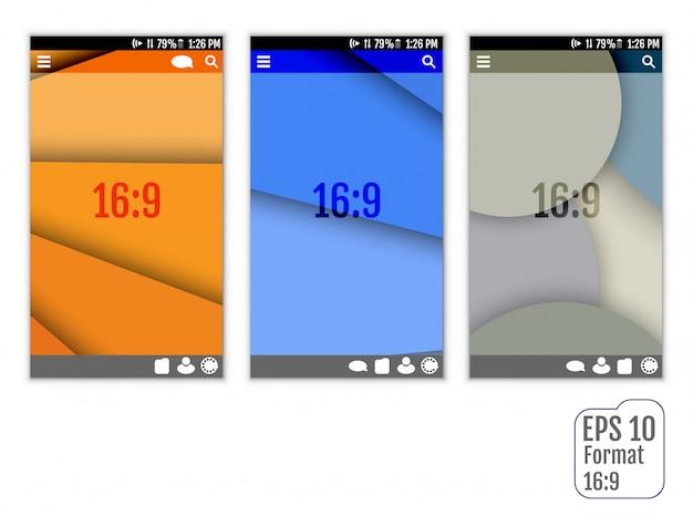 Modèles d'interface utilisateur abstraite Vecteur Premium