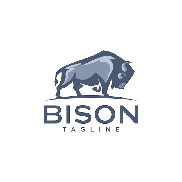 Modèles De Logo De Bison Vecteur Premium