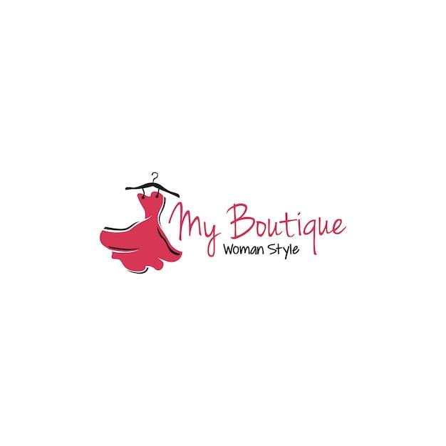 Modèles de logo de boutique de luxe Vecteur Premium