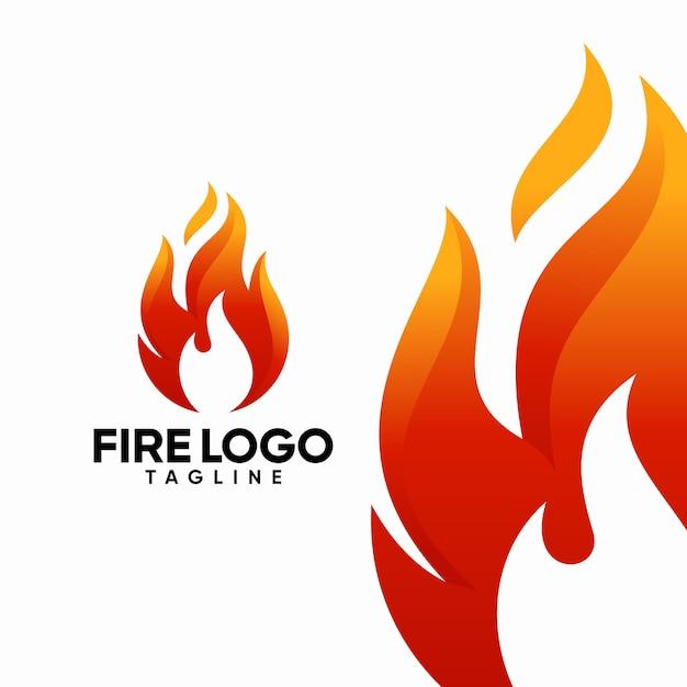 Modèles de logo incendie Vecteur Premium