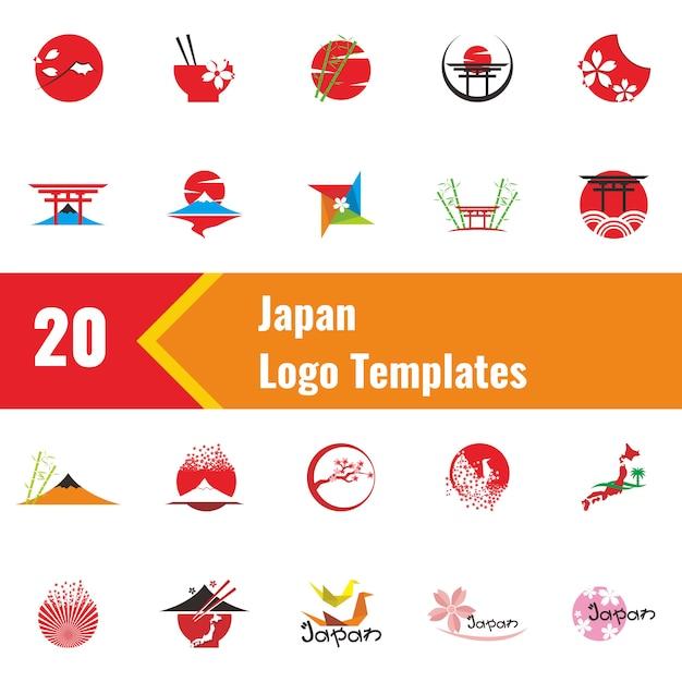 Modèles de logo japon Vecteur Premium