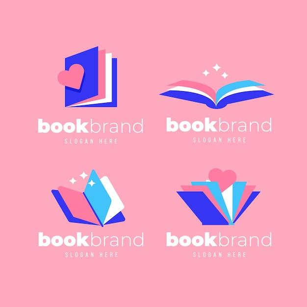 Modèles De Logo De Livre Design Plat Vecteur gratuit