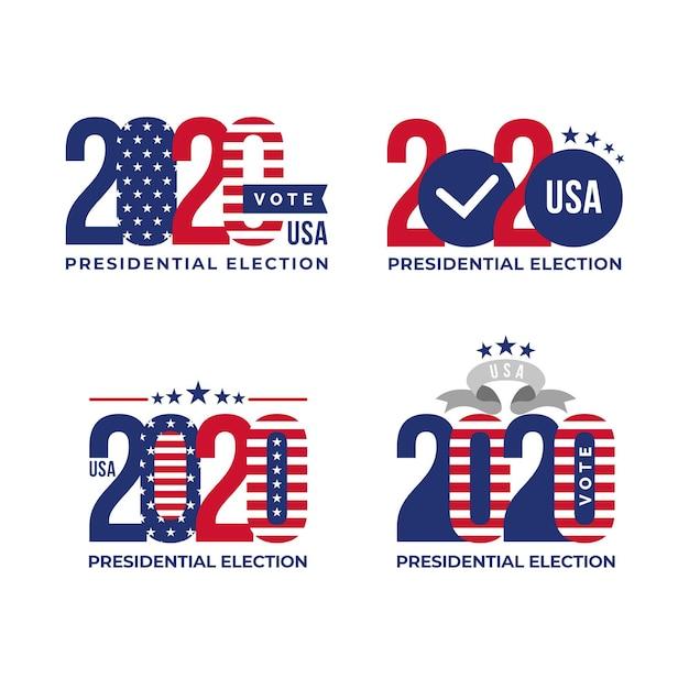 Modèles De Logos Pour L'élection Présidentielle Américaine 2020 Vecteur gratuit