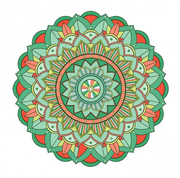 Modèles De Mandala Sur Fond Isolé Vecteur gratuit