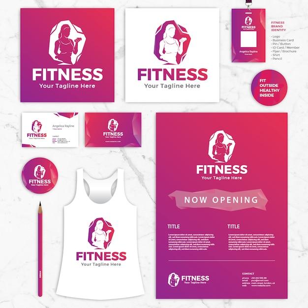 Modeles De Didentite Marque Fitness Logo Carte