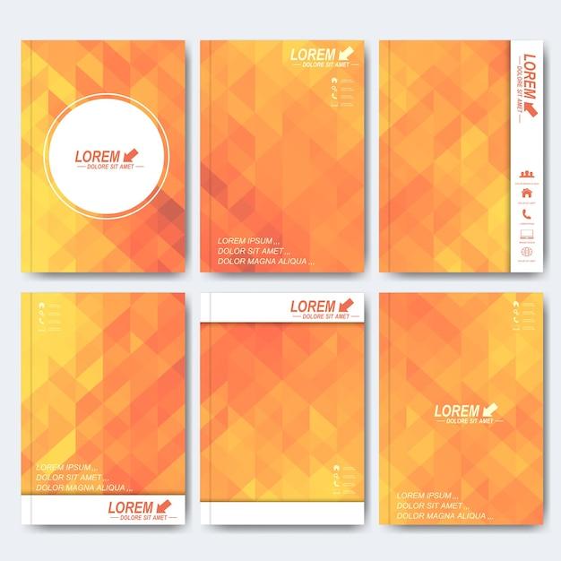 Modèles Modernes Pour Brochure, Dépliant, Magazine De Couverture Vecteur Premium