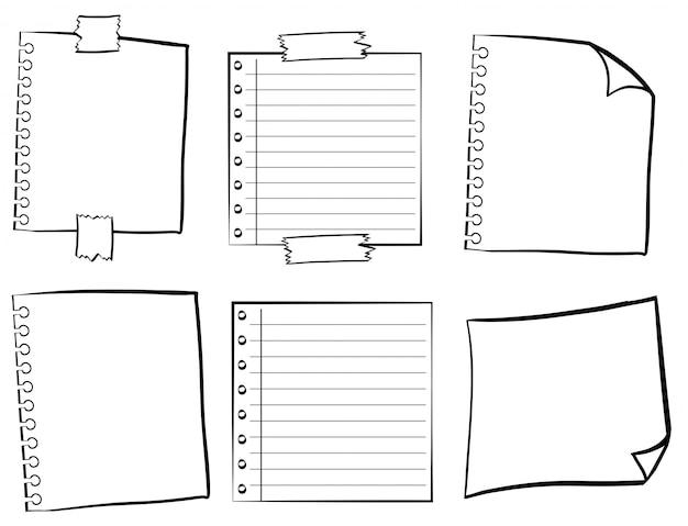 Modèles de papier dans différents modèles Vecteur gratuit