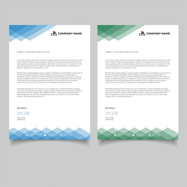 Modèles De Papier à En-tête De Géométrie Minimale Vecteur Premium