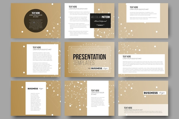 Modèles pour les diapositives de présentation Vecteur Premium