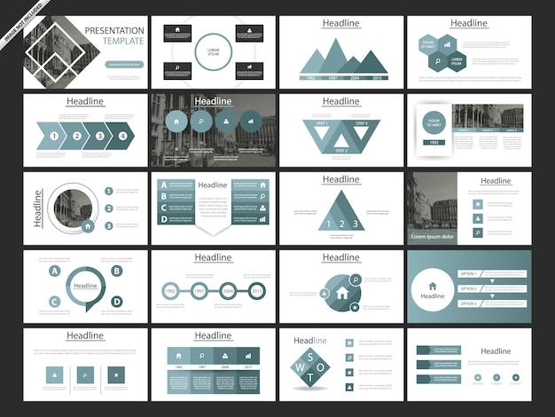 Modèles de présentation abstraits bleus Vecteur Premium
