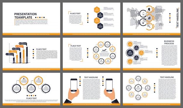 Modèles de présentation d'entreprise. Vecteur Premium