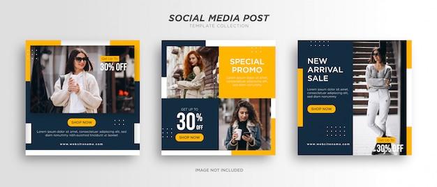 Modèles De Publication Sur Les Réseaux Sociaux De Mode Minimaliste Vecteur Premium