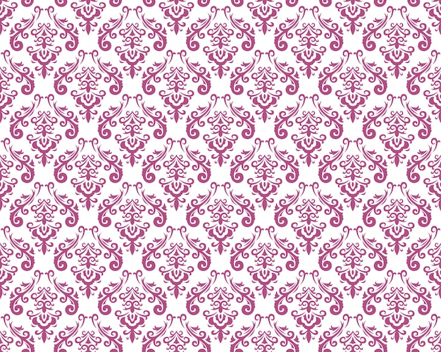 Modèles sans couture vintage damassés, illustration vectorielle. répétition horizontale et verticale Vecteur Premium