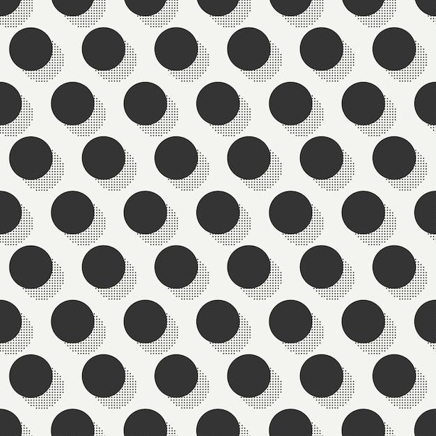 Modèles sans soudure de memphis. textures abstraites enchevêtrement. cercle, rond, point. Vecteur Premium