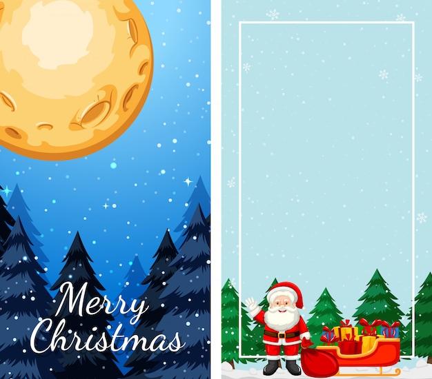 Modèles Avec Thème De Noël Vecteur gratuit