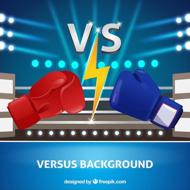 Modern Versus Background Avec La Boxe Vecteur gratuit