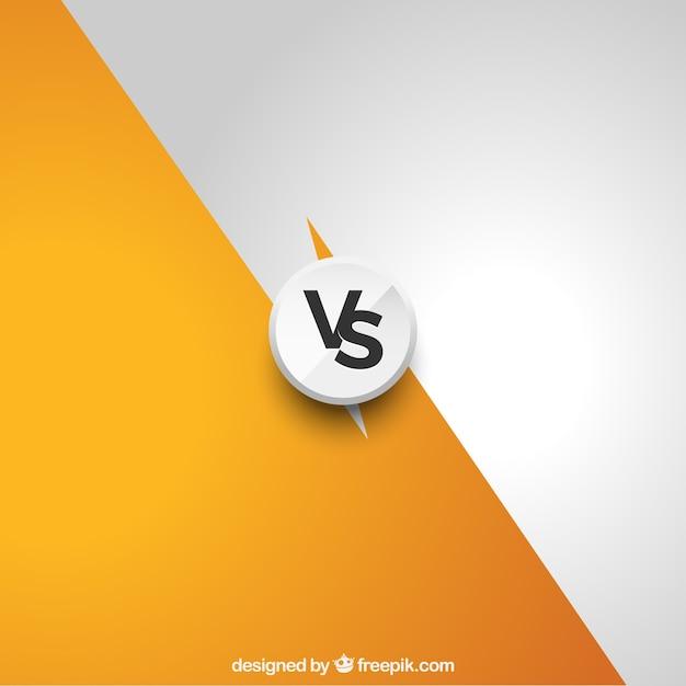Modern Versus Background Avec Style élégant Vecteur gratuit