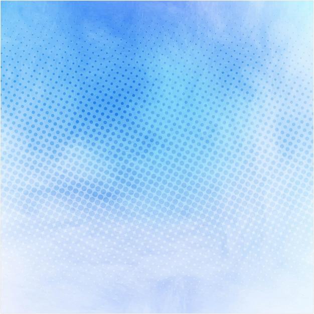 Moderne bleu fond d'aquarelle Vecteur gratuit