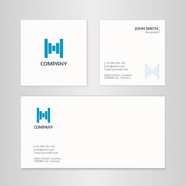 Moderne Carr Carte De Visite Cratif Avec Enveloppe