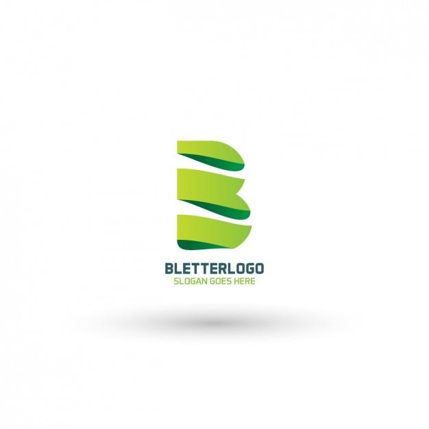 Moderne logo b Vecteur gratuit