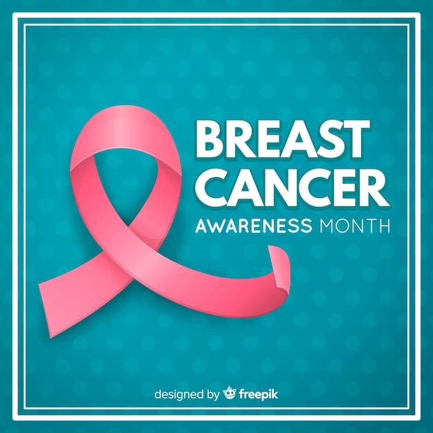 Mois de sensibilisation au cancer du sein fond rose Vecteur gratuit