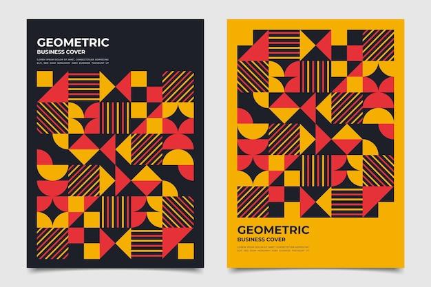 Moitiés De Collection De Couverture D'entreprise Géométrique De Cercles Vecteur gratuit