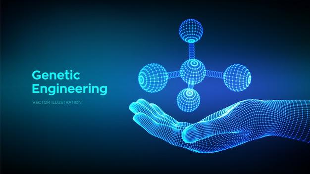 Molécule à La Main. Adn, Atome, Neurones. Molécules Et Formules Chimiques. Vecteur Premium