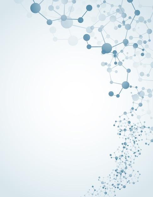 Moleculer sur fond isolé Vecteur Premium