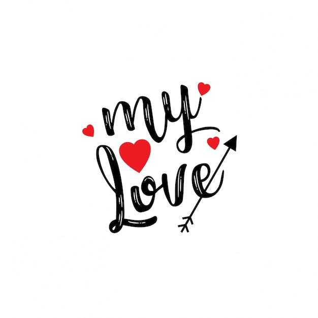 Mon amour Vecteur gratuit