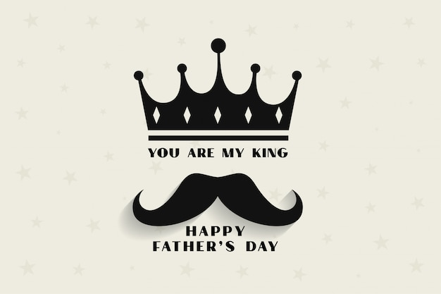 Mon Père Mon Roi Concept Pour La Fête Des Pères Vecteur gratuit