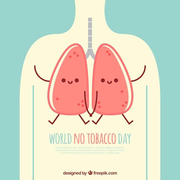Monde Aucune Illustration Du Poumon Du Jour Du Tabac Vecteur gratuit