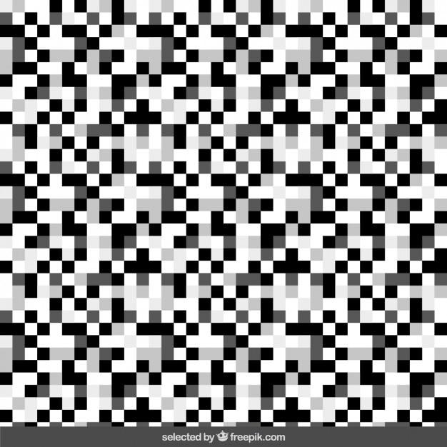 Monochrome pixel fond Vecteur gratuit