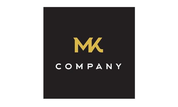Monogramme / initiales inspiration du logo mk Vecteur Premium