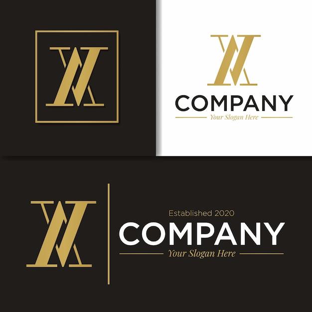 Monogramme De Logo De Modèle Av & X Vecteur Premium