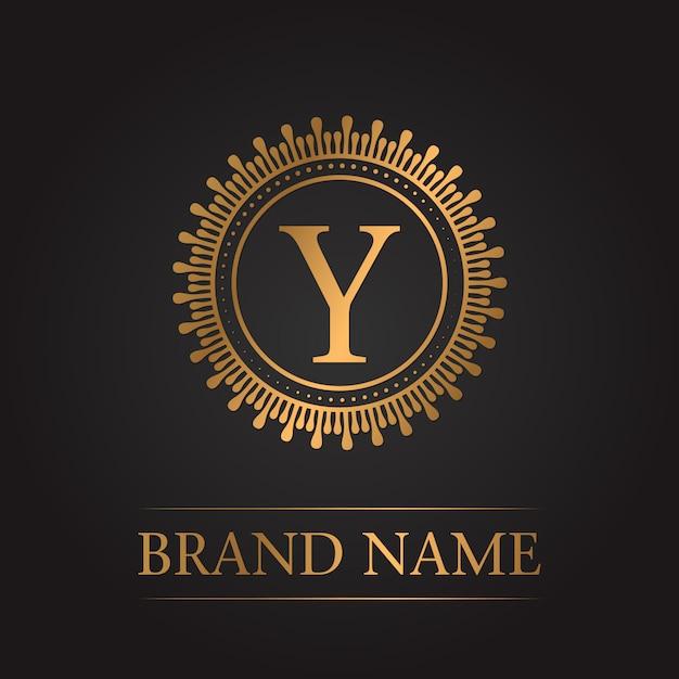 Monogramme de luxe en or Vecteur gratuit