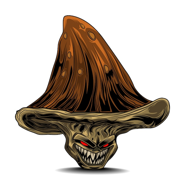 Monstre aux champignons Vecteur Premium