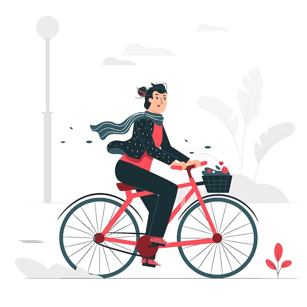 Monter Une Illustration De Concept De Vélo Vecteur gratuit