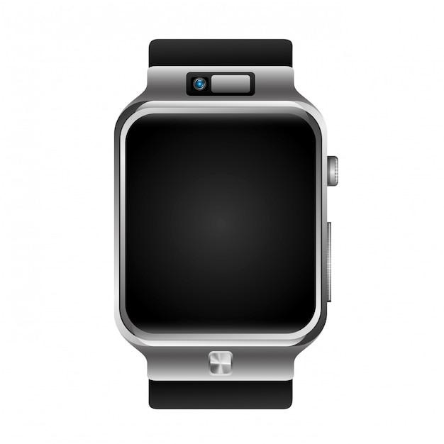 Montre-bracelet numérique Vecteur gratuit