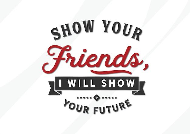 Montrez à vos amis, je vais vous montrer votre avenir Vecteur Premium