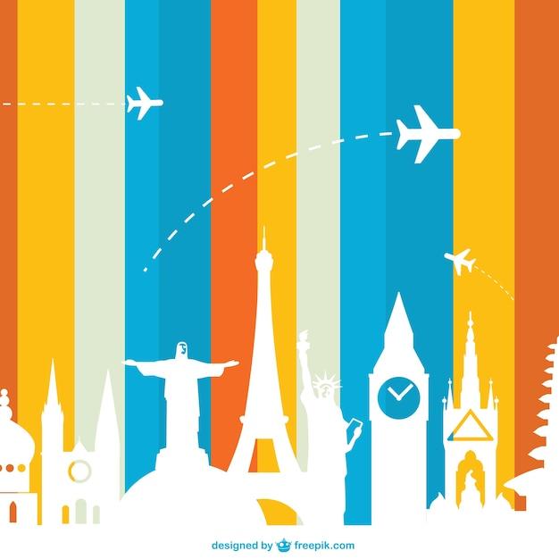 Monuments Concept De Tourisme Vecteur Vecteur gratuit