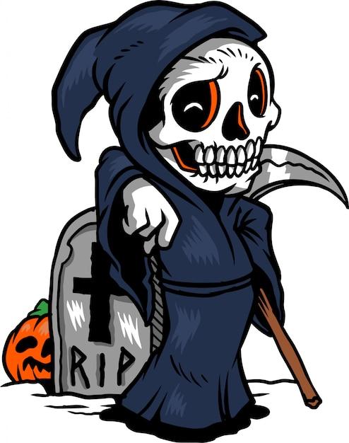 La mort attend Vecteur Premium