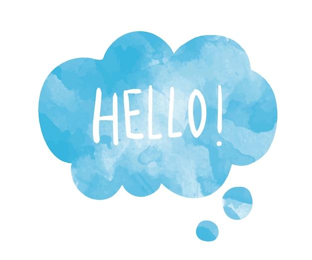 Le mot bonjour sur un vecteur de bulle de dialogue Vecteur gratuit