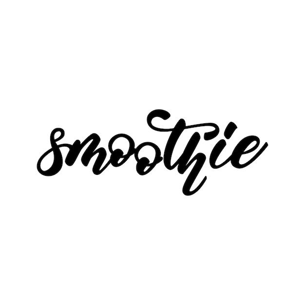 Mot de conception de lettrage de smoothie Vecteur Premium