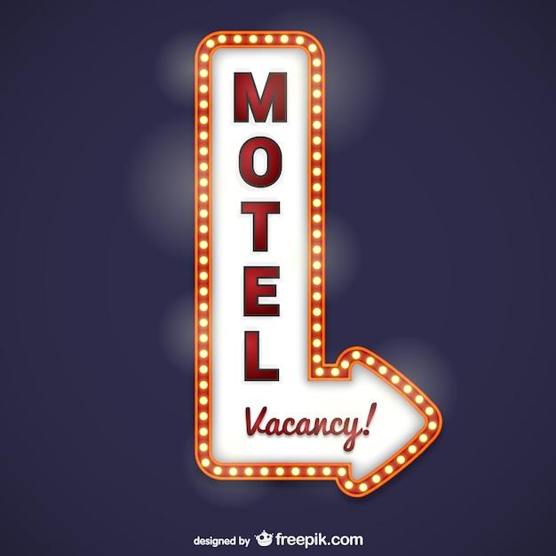 Motel signalisation Vecteur gratuit