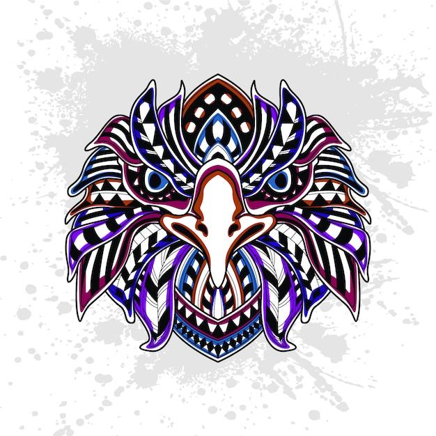 Motif Abstrait De L'aigle Vecteur Premium