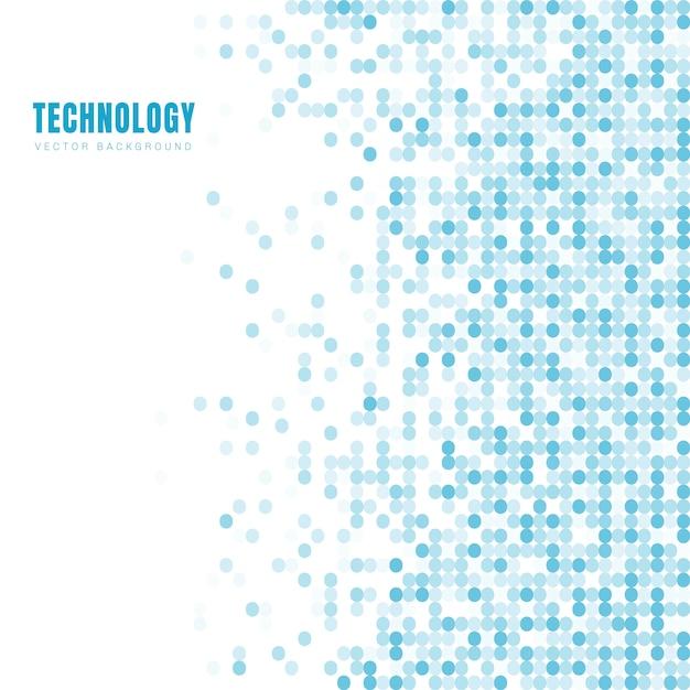 Motif abstrait cercles blanc et bleu Vecteur Premium